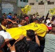 الآلاف يشيعون شهداء في غزة