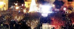 اضاءة شجرة الميلاد ببيت لحم