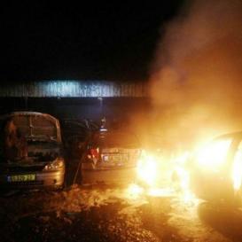 6 اصابات في احتراق حافلة قرب شفاعمرو