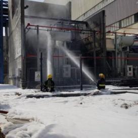 اندلاع حريق بمحطة توليد الكهرباء في الخضيرة