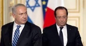 هولاند ونتنياهو يتفقان على منع إيران من حيازة القدرات الذرية