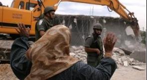 سلطات الاحتلال تهدم منزلا في قرية الديوك بأريحا