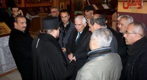 محافظ الخليل يزور كنيسة المسكوبية ويقدم التهاني بمناسبة اعياد الميلاد