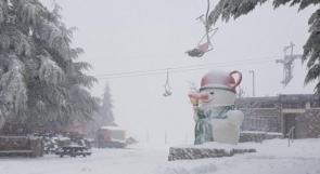فيديو   الثلوج تتراكم في جبل الشيخ