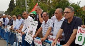 صور | تظاهرة لفعاليات فلسطينيي48 على انقاض دمرة المهجرة على حدود غزة