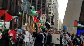 مظاهرة في شيكاغو رفضاً لنقل السفارة الأمريكية إلى القدس