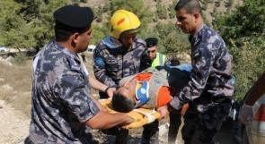 مناورة للدفاع المدني بالخليل تحاكي انقاذ عالقين في منتجع سياحي