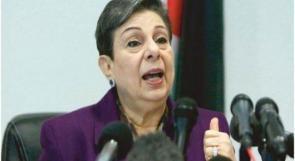 عشراوي تطالب بتحقيق دولي ومحاسبة إسرائيل على جرائمها