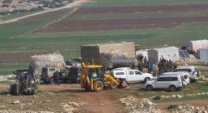 الاحتلال يصور منشآت المواطنين في خربة يرزا شرق طوباس