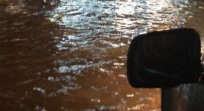 شرطة جنين تناشد المواطنين عدم المرور من شارع وادي برقين