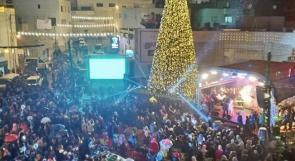بيت ساحور تضيء شجرة الميلاد