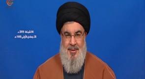 نصر الله: نتنياهو يصف حكومة لبنان بحكومة حزب الله للتحريض ضدها