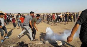 إصابات بالرصاص الحي والمطاطي جراء قمع الاحتلال للمسيرات السلمية شرق غزة