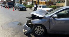 إصابة 7 مواطنين في حادثي سير وقعا في جنين