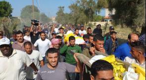 غزة تشييع شهداء مجزرة عائلة أبو ملحوس