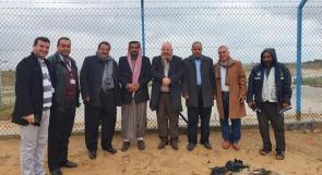 رئيس مجلس إدارة الإغاثة الزراعية والمدير العام يتفقدان مشاريع الإغاثة الزراعية في غزة