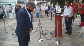 السفير طوباسي يشارك في احياء ذكرى ضحايا النازية من اليونان