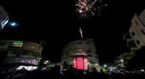 إضاءة فانوس رمضان في رام الله