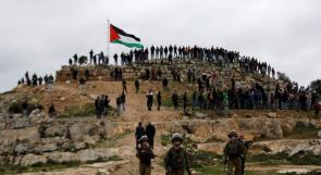 صورة | المواطنون يتصدون للاحتلال والاستيطان في جبل صبيح