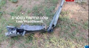 الاعلام العبري ينشر صور لشظايا صاروخ سوري سقطت على حي سكني في تل ابيب