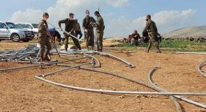 الاحتلال يقتحم خربة حمصة الفوقا بالأغوار ويستولي على معدات زراعية