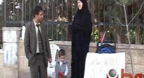 """بالفيديو... حملة """"دكتوراة"""" يعتصمون مع عائلاتهم أمام مجلس الوزراء"""