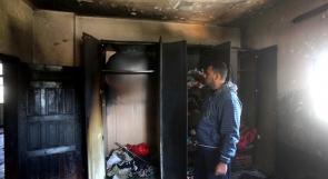 إصابة مواطن بحريق منزل بحي التفاح بغزة