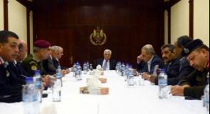 الرئيس يترأس اجتماعا لقادة الأجهزة الأمنية