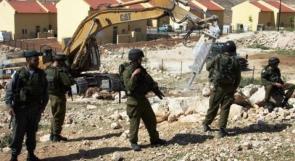 نابلس : الاحتلال يجرف 60 دونماً لتوسيع 3 مستوطنات