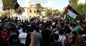 بالصور .. قوات الاحتلال تعتدي على المشاركين في مسيرة مع غزة في حيفا