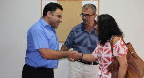 السكرتير العام للإتحاد الدولي للصحفيين تزور تلفزيون وطن