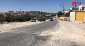 """مواطنون يناشدون بلدية الخليل عبر وطن لإصلاح """"شارع مفرق الكوشوك"""""""