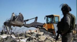 """""""أوتشا"""": الاحتلال هدم وصادر 33 مبنى بأسبوعين"""