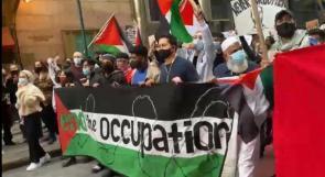 مسيرتان تجوبان شوارع نيويورك وواشنطن تنديدا بالعدوان الإسرائيلي على شعبنا