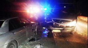 اصابة متوسطة بحادث بين مركبة وحافلة قرب كفرقرع
