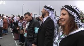اكبر دبكة فلسطينية في ميدان مانديلا برام الله
