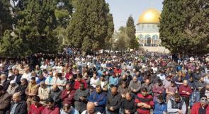 أكثر من 50 ألف مصلٍ أدوا صلاة الجمعة في الأقصى