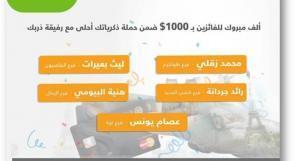 """بنك القدس يعلن أسماء الفائزين لشهر تموز ضمن حملة """"ذكرياتك أحلى مع رفيقة دربك بطاقة ماستركارد الائتمانية"""""""