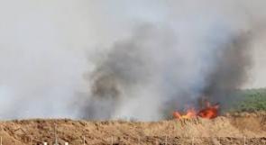 الحرائق تعود إلى مستوطنات غلاف غزة بفعل البالونات