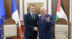 الرئيس عباس يطالب ماكرون باعتراف فرنسا بالدولة الفلسطينية