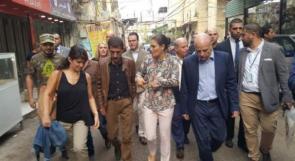 لبنان: ولية عهد السويد تزور مخيم برج البراجنة