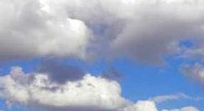 الطقس: غائم جزئي وامطار متفرقة مساء