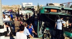 بالصور والفيديو... أزمة مرورية وتواجد كثيف لجنود الاحتلال عقب حادث جبع