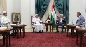 الرئيس يستقبل السفير القطري محمد العمادي في رام الله