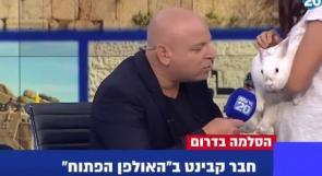 """قناة عبرية تستضيف """"أرنباً"""" في مقابلة حول غزة.. لماذا؟"""