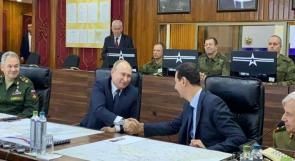 الرئيس الروسي فلاديمير بوتين يصل إلى دمشق ويلتقي بالأسد
