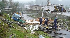 """حصيلة ضحايا اعصار اليابان """"هاغيبيس"""" ترتفع لـ 56 قتيلا"""