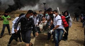 4 اصابات برصاص الاحتلال و15 بالاختناق قرب حدود غزة