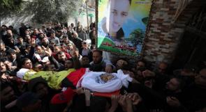 جماهير غزة تشيّع جثمان الشهيد حسن نوفل في النصيرات
