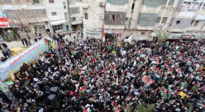 الآلاف يخرجون في مسيرات حاشدة بمدن الضفة رفضا لصفقة القرن